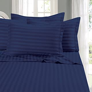 Elegant Comfort Best, Softest, Coziest STRIPE Sheets Ever! 1500 Thread Count Egyptian Quality Luxury Silky-Soft Wrinkle & ...