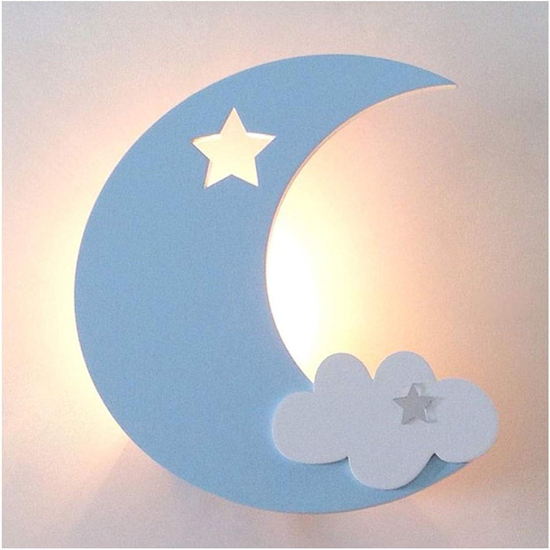 Wandleuchten Wandleuchte LED kinderzimmer Junge und Mdchen Wandleuchte Schlafzimmer Wohnzimmer Mond Lampe Romantische Und Schne Eisen Kunst (Farbe   B-Wiring)