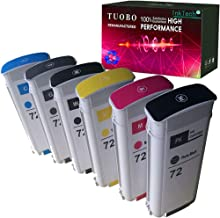 Best Tuobo Compatible Ink Cartridge Replacement for 72 Ink Cartridge 130ML Use with designjet T1100 T1200 T1100ps T1120 SD-MFP T1120ps T2300 T610 T790 Printer ect (Pack of 6) Review