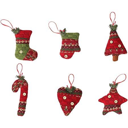 Christbaumanhänger 8 Weihnachtsbaumschmuck Deko Anhänger Aus Filz Christbaum Anhänger Hängende Ornamente Glocke Weihnachtsbaum Strumpf Stocking Ball Formen Für Weihnachtsbaum Anhänger Glocke Urlaub Küche Haushalt