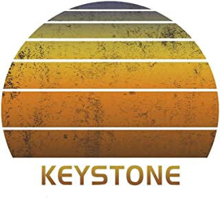 Keystone: Colorado Notebook Paper For Work, Home or School With Lined Wide Ruled Sheets. Vintage Sunset Note Pad Composition Journal For Family ... & Kids With 6 x 9 Inch Soft Matte Cover.