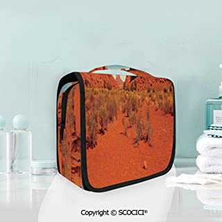 SCOCICI Travel Hanging Wash Bag Kit Sunny Hot Day Monument Valley Arid Coun