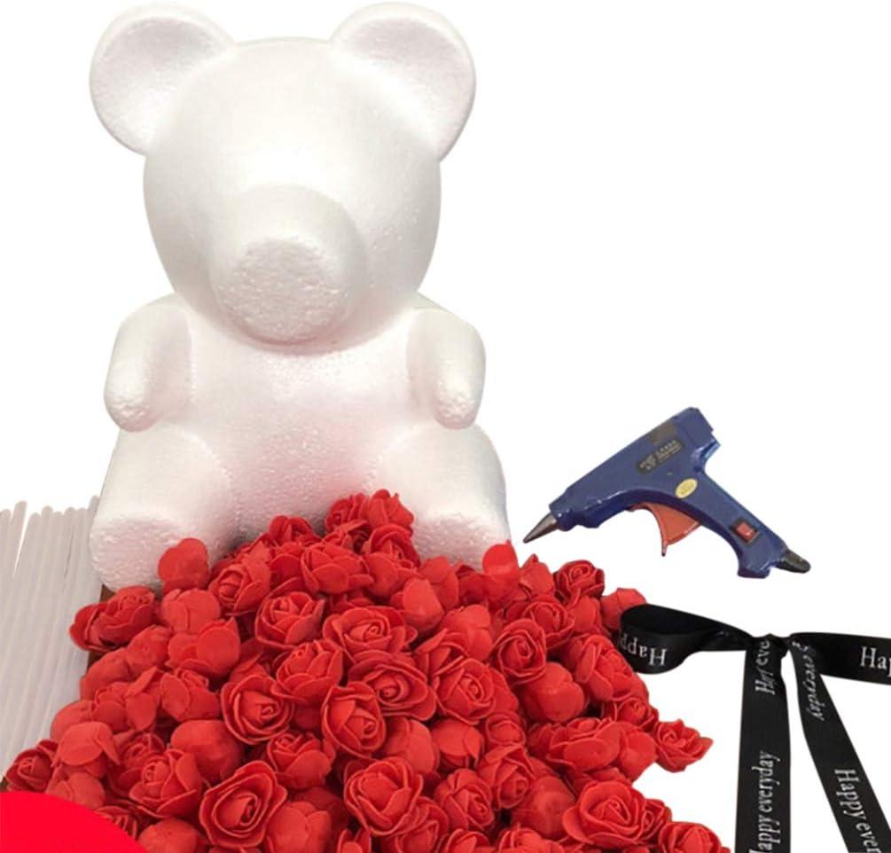 Amosfun Foam 100% quality warranty! Bear Shape Modelling Polystyrene Rose Styrofoam SALENEW very popular Flo