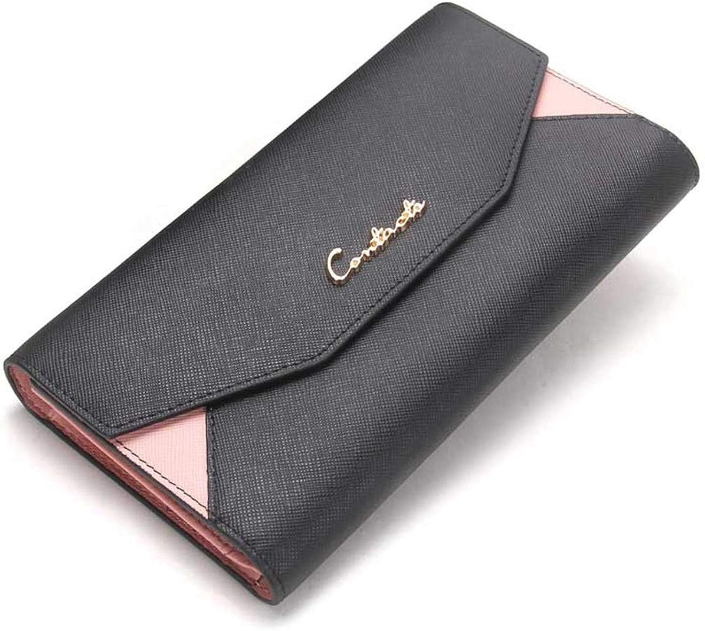 Mifusanahorn Farbabstimmung Lady Purses Handtasche an Freundin senden senden senden Süße Zero Wallet Hochleistungs-Handytasche mit DREI Falten (Farbe   schwarz) B07MZWG8TL 8e351a