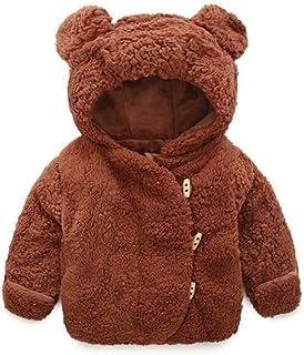 JIANLANPTT Toddler Baby Boys Girls Faux Fur Hoodie Winter Warm Coat Jacket
