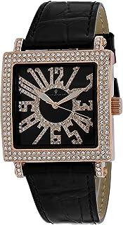 Christian Van Sant Women's Lumina Stainless Steel Quartz Leather Strap, Black, 20 Casual Watch (Model: CV0245)