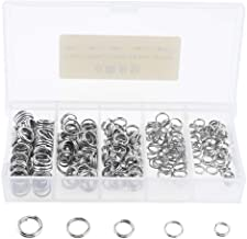 50//100 Fishing Solid Stainless Steel Snap Split Ring Lure Tackle Connector Kits