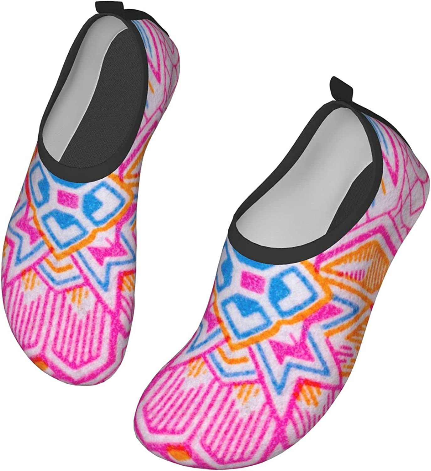 Macro Texture Flower Water Shoes for Womens Mens Barefoot Quick-Dry Aqua Socks for Beach Swim Surf Yoga Exercise New Translucent Color Soles