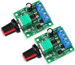 WayinTop 2pcs PWM Low Voltage DC 1.8V 3V 5V 6V 12V 2A Motor Speed Controller 1803BK Adjustable Driver Switch with Speed Control Knob