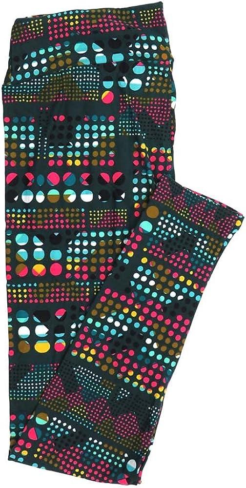 Lularoe Tall Curvy TC Polka Dots Buttery Soft Womens Leggings fits Adults Sizes 12-18 TC-7356-N