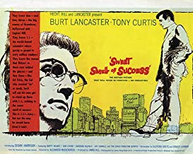 Nostalgia Store Sweet Smell of Success Featuring Burt Lancaster, Tony Curtis 14x11 Promotional artwork