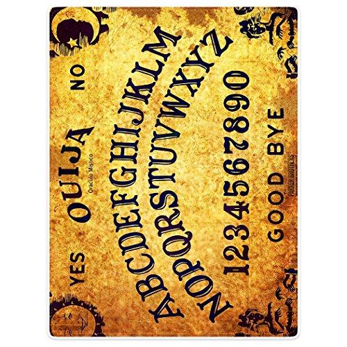 yisumei Manta de techos suavemente franela suave manta colcha Ouija Tabla, poliéster, Weiß, 75 x 100 cm
