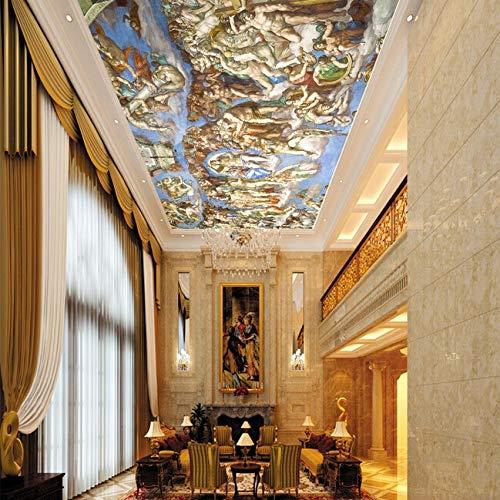 Groß (ab 1 Quadratmeter) 3d Deckengemälde European Style Wandgemälde 3d Wandgemälde für Hintergrund Wohnzimmer 3d Fototapete SISTINE CHAPEL - 1㎡
