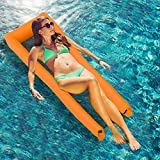 Lixada Hamaca Inflable Piscina Flotadores Inflables Portátil Hamaca Flotante Inflar Reclinable para Piscina Playa