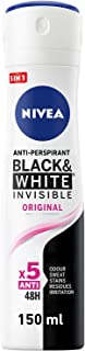 NIVEA, Deodorant Female, Invisible Black & White, Original, Spray, 150ml