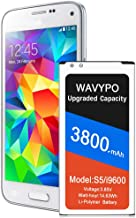 Galaxy S5 Battery, (Upgraded) 3800mAh S5 Battery Li-Polymer Replacement Battery for..