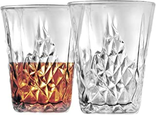 Oloodo Old Fashioned Glasses | Set of 2| 280 ml -9.4 Ounce | Lead Free |Tumbler and Low ball glass for cocktails and other...