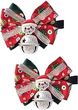 Abaodam 2 stuks verstelbare huisdier vlinderdas kerst thema kraag hond strik vorm kraag festival huisdier ketting met bel ...