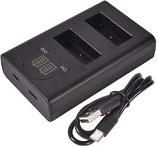 DSTE Dual USB Cargador con Pantalla LCD para LP-E17 y Canon EOS M3 M5 77D 750D 760 8000D 9000D Kiss X8i Rebel T6i Rebel T6s Digital SLR Cámara
