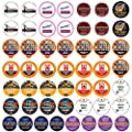 Perfect Samplers Coffee Pod Variety Pack, Dark Roast and Bold Flavors, Single Serve Pods for Keurig K-Cup Machines - Robust Assortment, 50 Count
