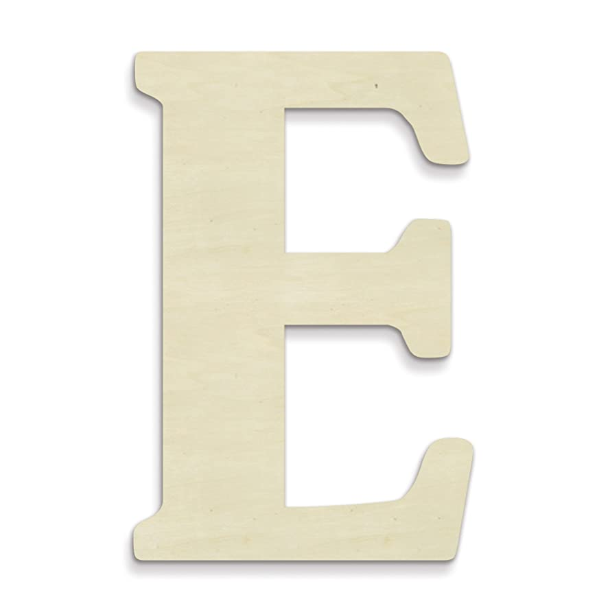 UNFINISHEDWOODCO Oversized Unfinished Wood Letters, 18-Inch,