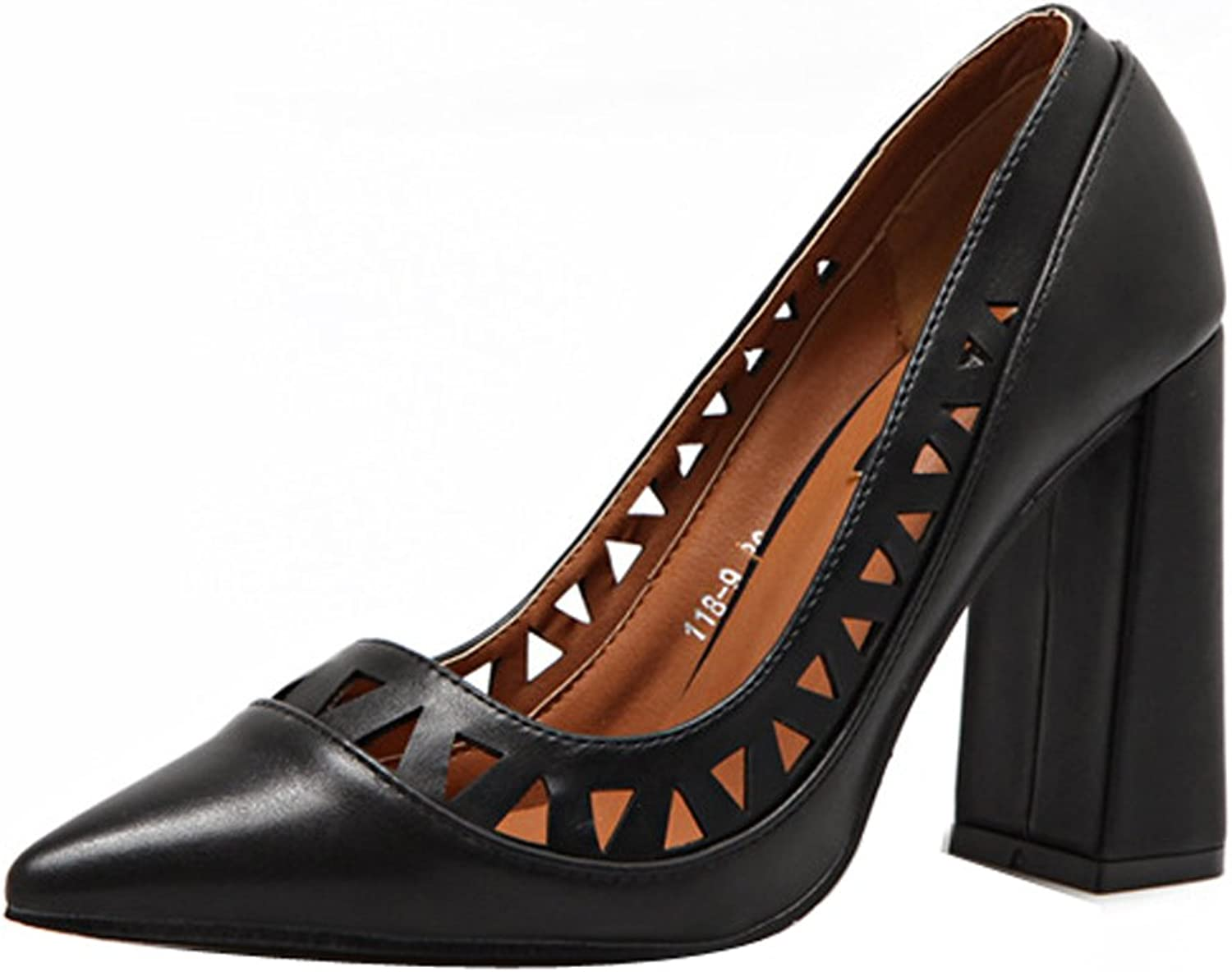 Ladola Womens Slip-Resistant High-Heel Closed-Toe Solid Urethane Pumps shoes