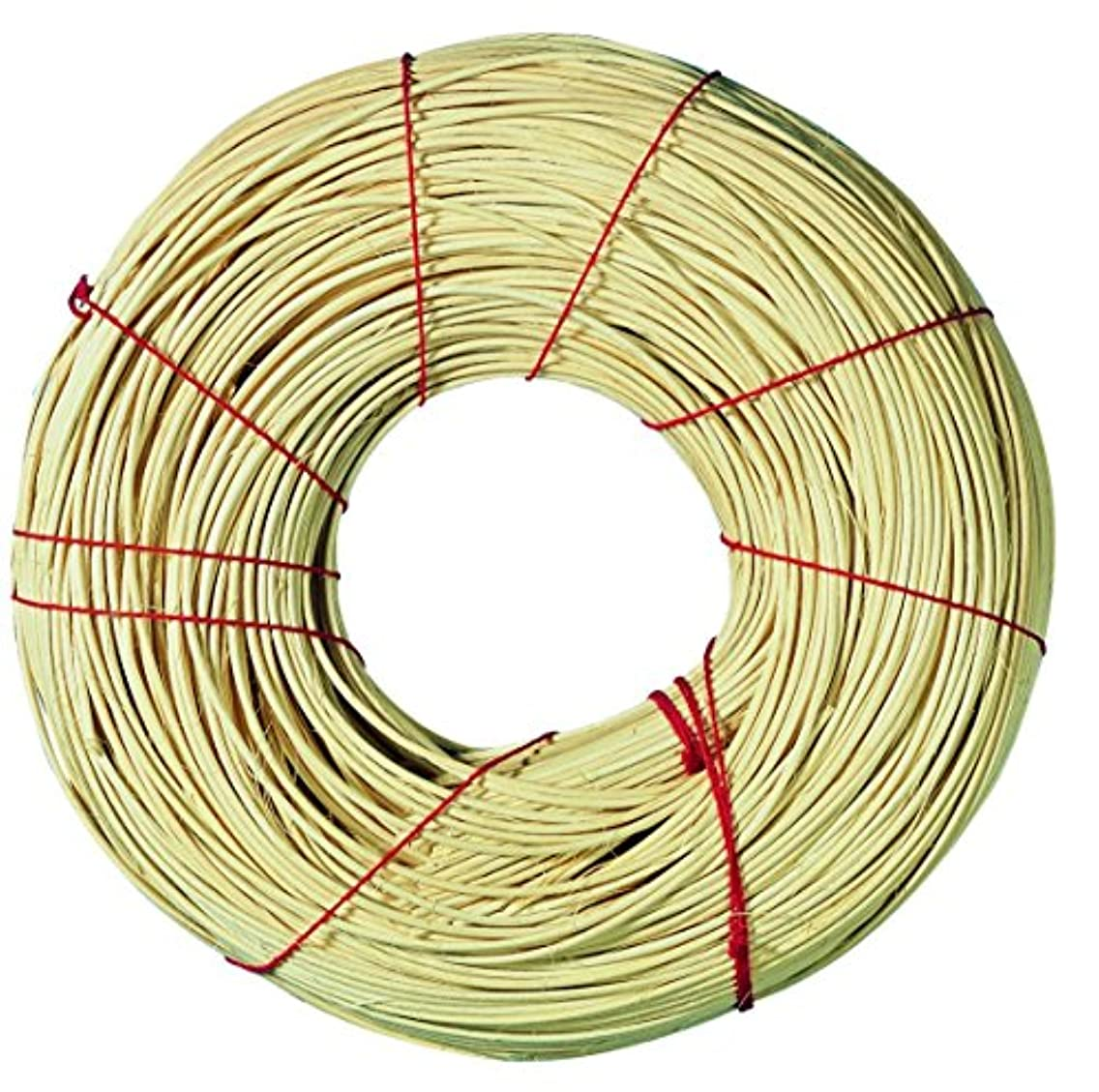 Rayher Red Ribbon Quality Rattan Roll, Natural, 2.4 mm, 500 g