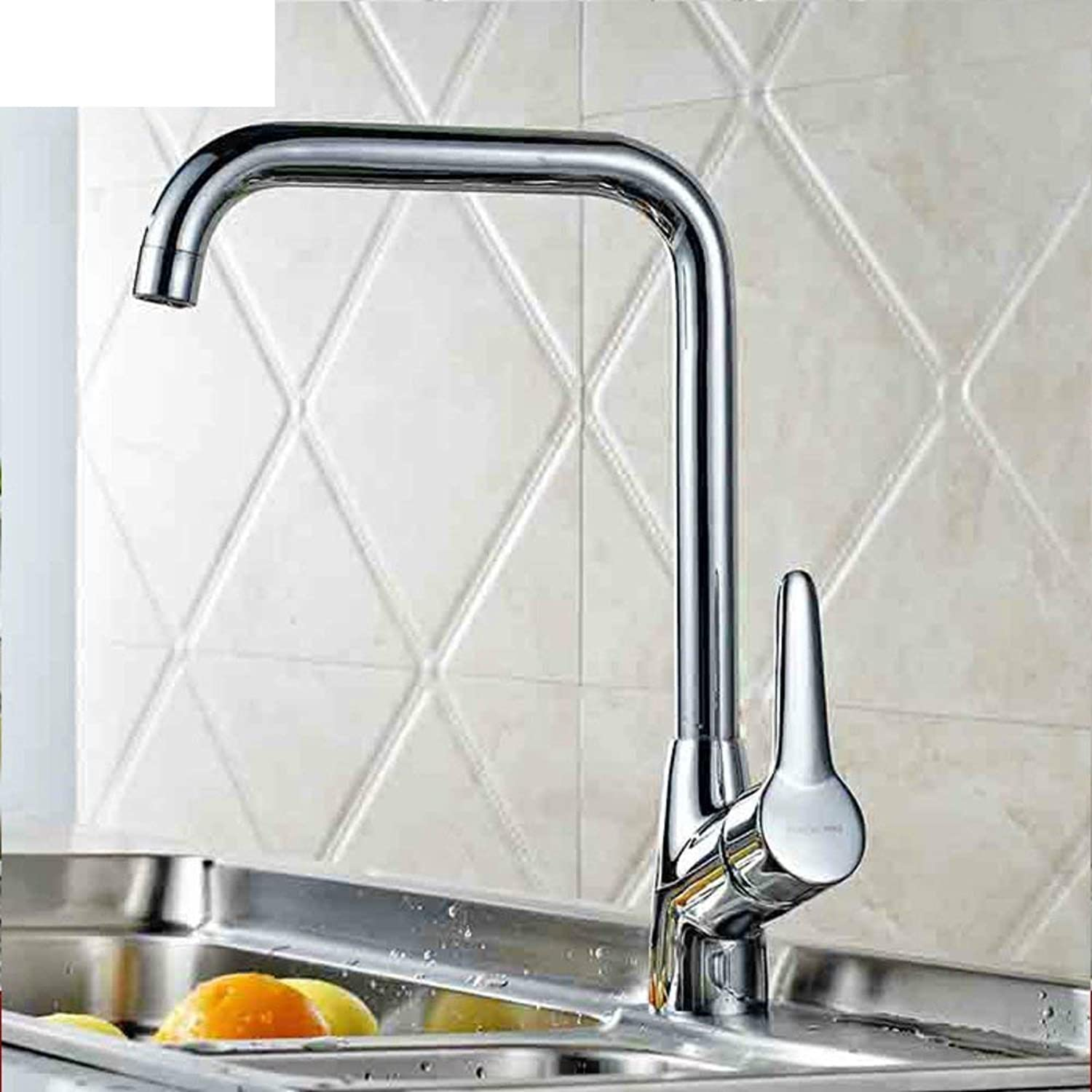 Oudan Full copper kitchen faucet bathroom Hot and cold vegetables basin sink faucet (color   -, Size   -)
