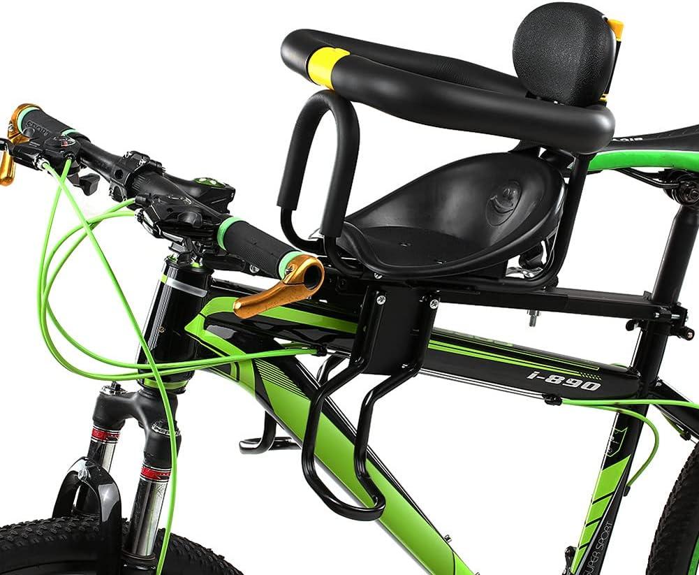 Kids Bike Seat,Front Mounted Bike Child Seat for Adult Bike,Universal Child Bike Seat for Children, Kids Front Bike Seat Safety Carrier for Mountain Bike,MTB Road Bike,Electric Bikes,Woman's Bicycles