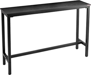 """Mr IRONSTONE 55.1"""" Bar Table Pub Dining Height Table Black Bistro Table (Indoor USE ONLY)"""