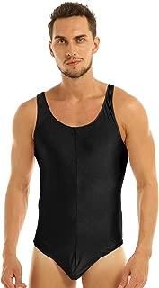 Men's Stretch Racer Back High Cut Thongs Leotard Bodysuit Singlet Swimsuit