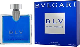 Bvlgari Men's BLV Pour Homme EDT Spray,Blue,3.4 oz