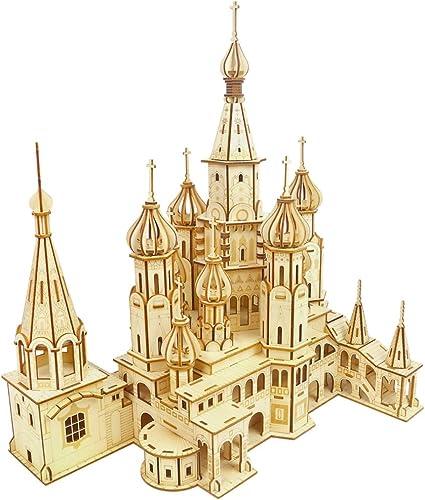 H erne 3D-Puzzles, Baumodell-Spielzeug für Kinder oder Erwachsene, Toy Brain Brain Teaser (St. Basil es Cathedral)