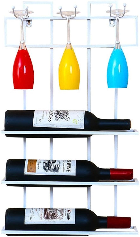 garantizado JiuErDP Soporte de Parojo para para para vinos, Metal   Estante de Parojo Loft Rack de Almacenamiento de Parojo   Porta Botellas De Vino   Soporte para Copas de Vino Colgante   Decoración Industrial de la Pare  mejor moda