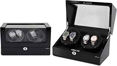 2019 New Watch Winder 4+0 for Environmentally Friendly Wood and Piano Paint Surface, Silent Motor, 5 Working Modes, Support 99% Watches