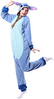 Women's Cosplay Adult Onesie Pajamas Cosplay Costumes Animal Outfit Stitch