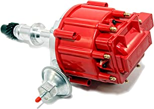 Assault Racing Products 1040011 for Pontiac V8 HEI One Wire Distributor Red Cap Complete 301 326 389 400 421 428 455
