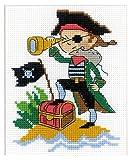Riolis Kreuzstich-Set Brave Pirate, Baumwolle, Mehrfarbig,