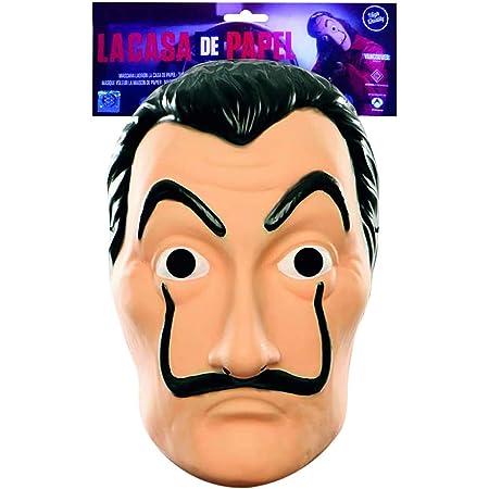 Masque Officiel La CASA de Papel | Masque de Dali | Masque Salvador Dali | Déguisement | Halloween | Carnaval | Soirée Déguisée à Thème Costume Cambrioleur | Voleur | Braqueur | OriginalCup®