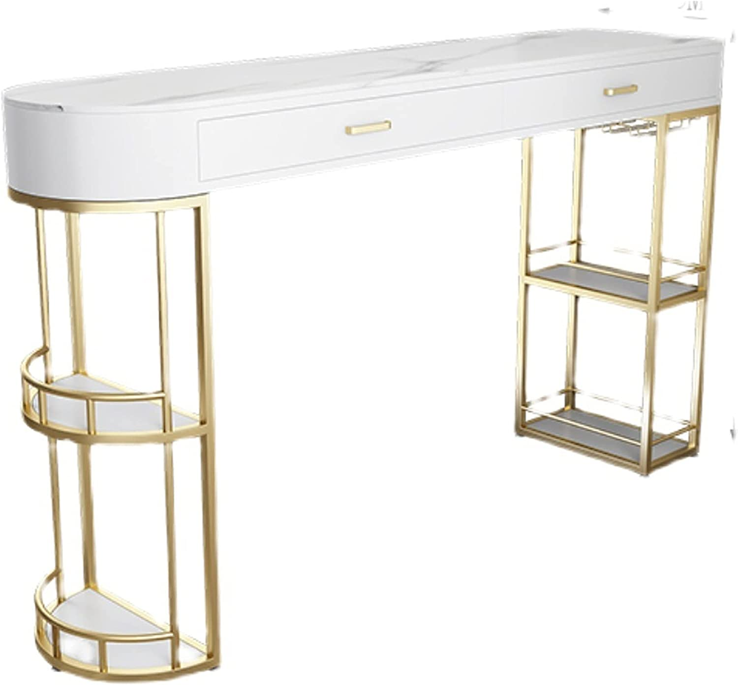 luckxuan Bar Table Multifunctional Storage Living Room Dining Ta