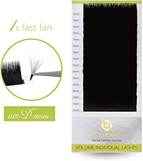 BEYELIAN Beuaty Easy Fan Lashes Flexibly XD Volume Lashing 1s Fast Fan Lashes Eyelash Extensions D Curl 0.07mm Semi Perman...