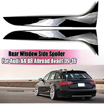 Spoiler Posteriore Fianco Nero di Alta qualit/à Materiale ABS Incolla Il Tipo per A-UDI A4 B8 Allroad Avant 2009-2016 Accessori