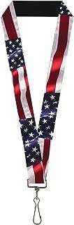 Buckle-Down Lanyard - American Flag Vivid CLOSE-UP