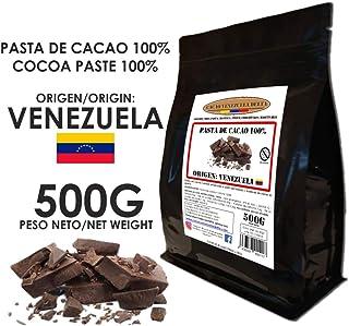 Cacao Venezuela Delta - Chocolate Negro Puro 100% · Origen Venezuela (Pasta, Masa, Licor De Cacao 100%) · 500g