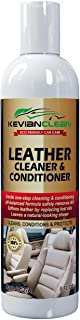 KevianClean Leather Cleaner & Conditioner - Auto Interior Detailing, Furniture, Upholstery, Sofa, Couch, Handbag, Purse, Shoe, Boot, Jacket, Car Seat Care, Protector and Restoration - 8 oz.