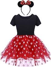 OBEEII Polka Dots Disfraz Carnaval Minnie Traje de Princesa para Halloween Navidad Fiesta Ceremonia Aniversario Cosplay Costume para Niñas Chicas 12 Meses-4 Años