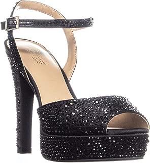 Womens Bridget Satin Platform Dress Sandals