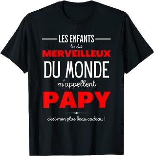 Homme PAPY-Fête des grands pères-Cadeau papi personnalisé-Papou T-Shirt