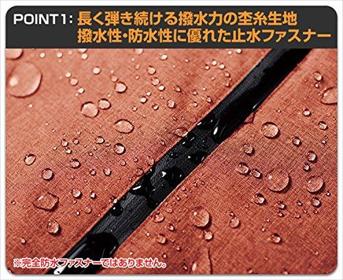 レインジャケット(耐水圧:10000mmH2O)(止水ファスナー)(通気性調節ファスナー)(防水バック付き)ミックスグリーンMサイズAS-800