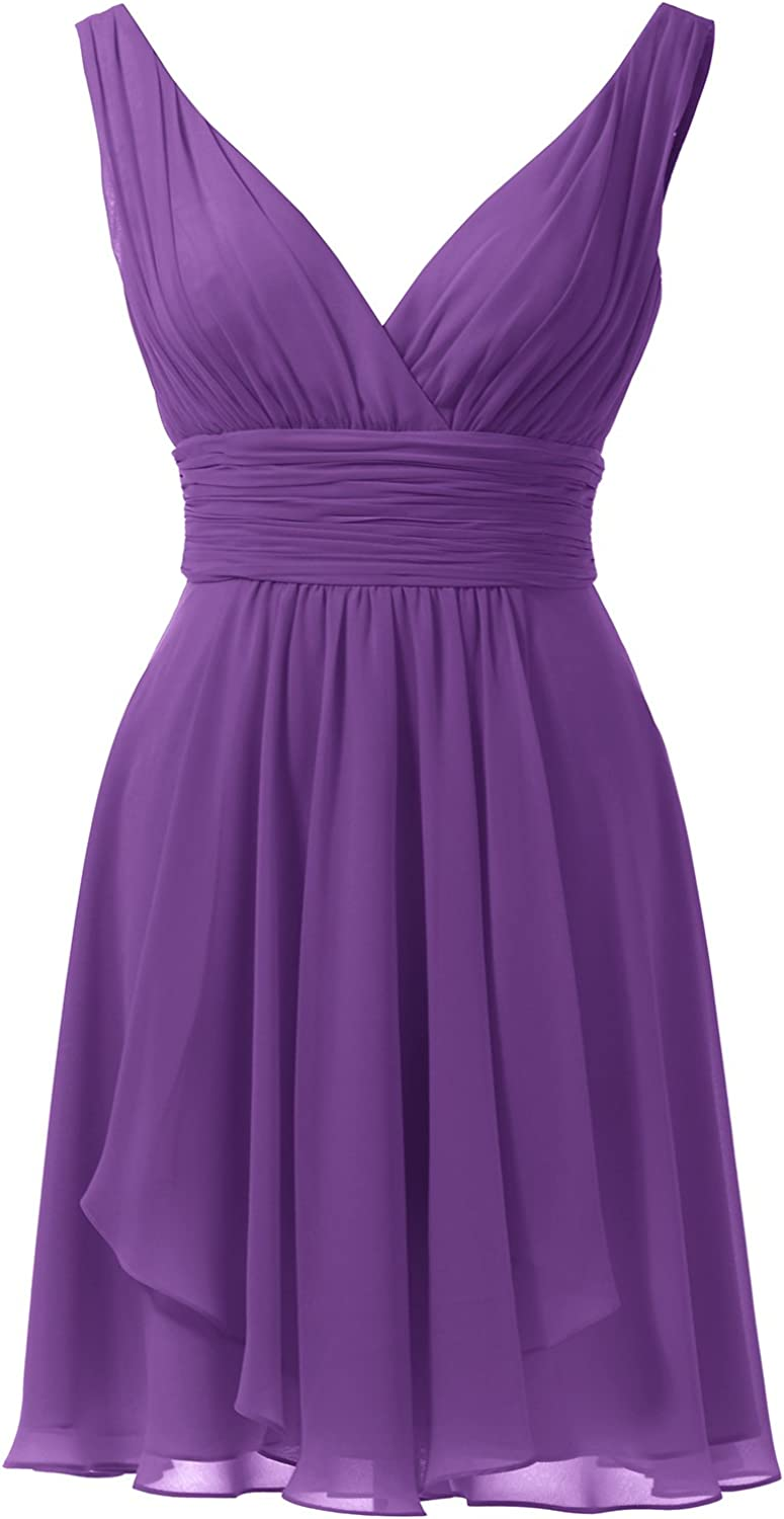 Alicepub Sexy VNeck Bridesmaid Dress Short Prom Gown Evening Dresses Sleeveless